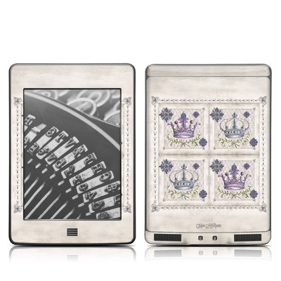 Kindle Touch Skin - Purple Crown