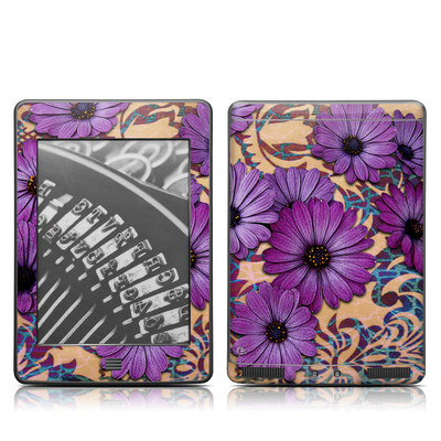 Kindle Touch Skin - Daisy Damask