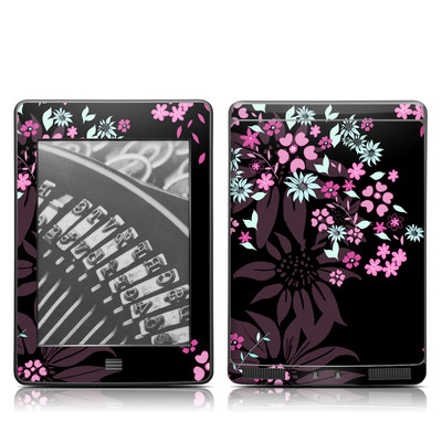 Kindle Touch Skin - Dark Flowers