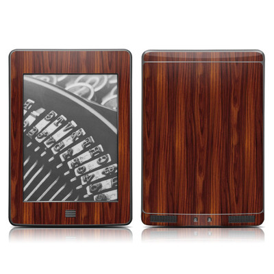 Kindle Touch Skin - Dark Rosewood