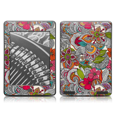Kindle Touch Skin - Doodles Color