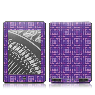 Kindle Touch Skin - Dots Purple