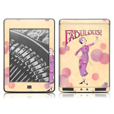Kindle Touch Skin - Fabulous