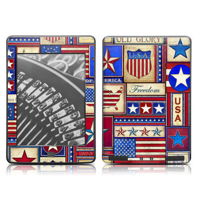 Kindle Touch Skin - Flag Patchwork