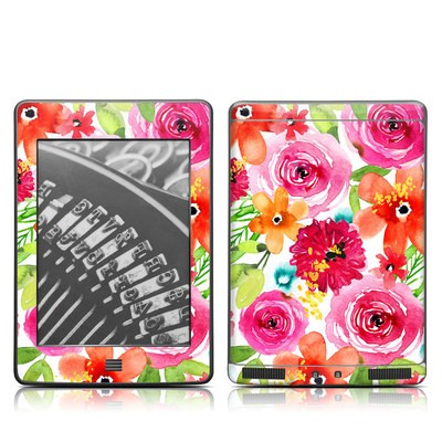 Kindle Touch Skin - Floral Pop