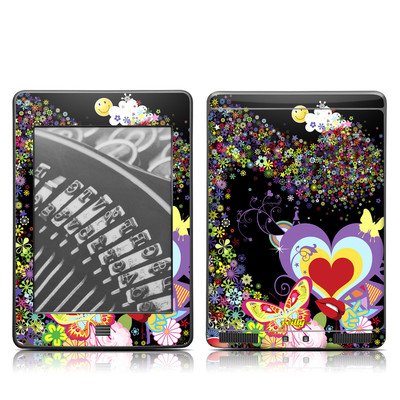 Kindle Touch Skin - Flower Cloud