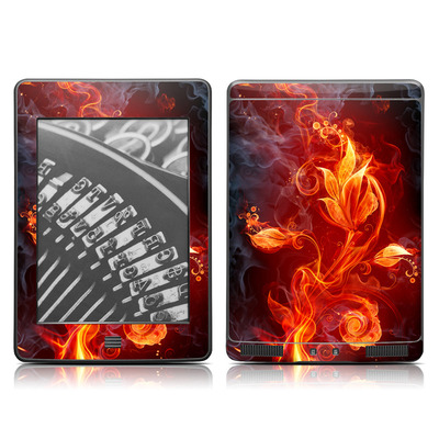 Kindle Touch Skin - Flower Of Fire