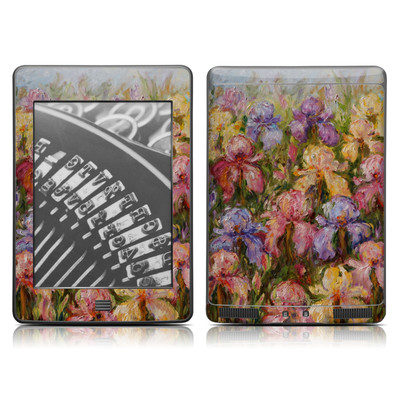 Kindle Touch Skin - Field Of Irises