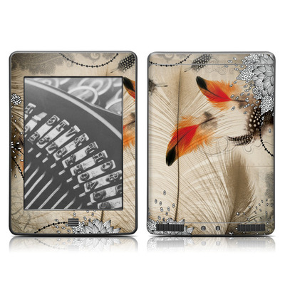 Kindle Touch Skin - Feather Dance
