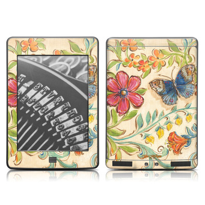 Kindle Touch Skin - Garden Scroll