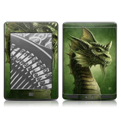 Kindle Touch Skin - Green Dragon