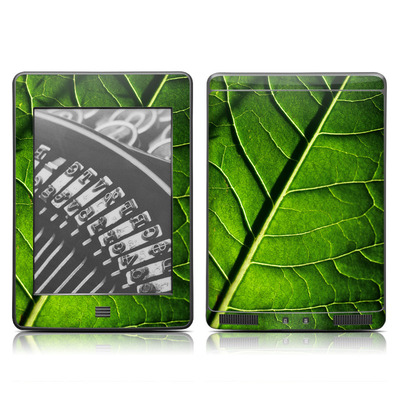 Kindle Touch Skin - Green Leaf
