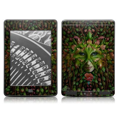 Kindle Touch Skin - Green Woman