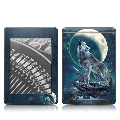 Kindle Touch Skin - Howling Moon Soloist