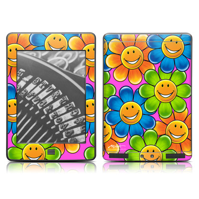 Kindle Touch Skin - Happy Daisies