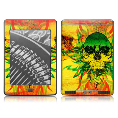 Kindle Touch Skin - Hot Tribal Skull