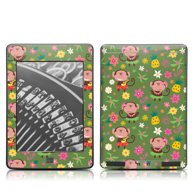 Kindle Touch Skin - Hula Monkeys