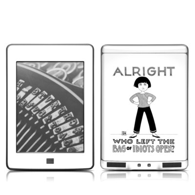 Kindle Touch Skin - Bag of Idiots