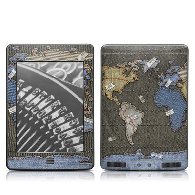 Kindle Touch Skin - Jean Map