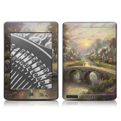 Kindle Touch Skin - Sunset On Lamplight Lane