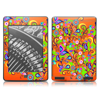 Kindle Touch Skin - Orange Squirt