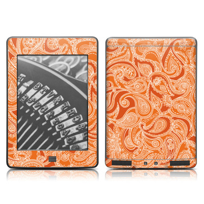 Kindle Touch Skin - Paisley In Orange