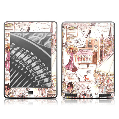 Kindle Touch Skin - Paris Makes Me Happy