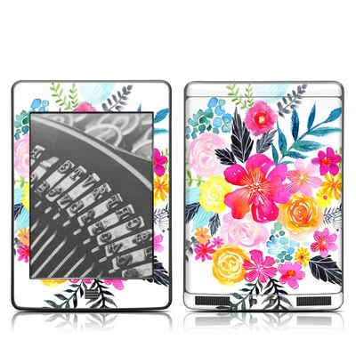 Kindle Touch Skin - Pink Bouquet