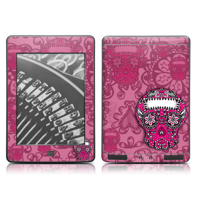 Kindle Touch Skin - Pink Lace