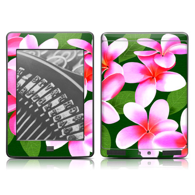 Kindle Touch Skin - Pink Plumerias
