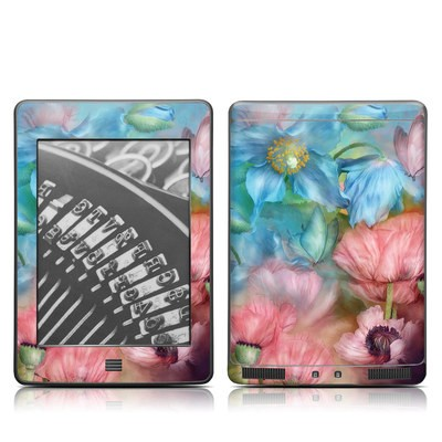 Kindle Touch Skin - Poppy Garden