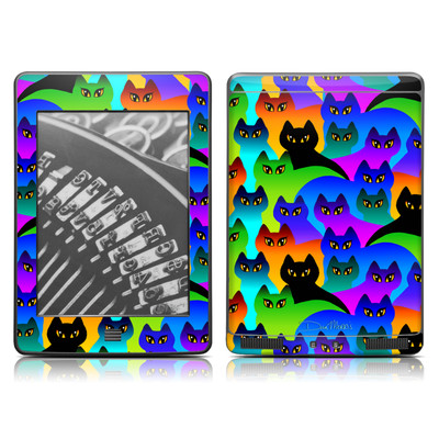 Kindle Touch Skin - Rainbow Cats