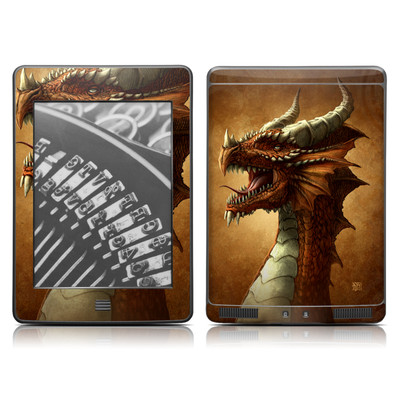 Kindle Touch Skin - Red Dragon