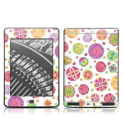 Kindle Touch Skin - Round Flowers