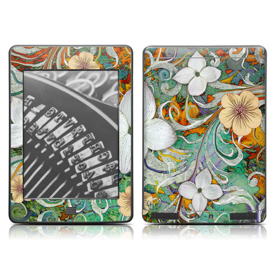 Kindle Touch Skin - Sangria Flora