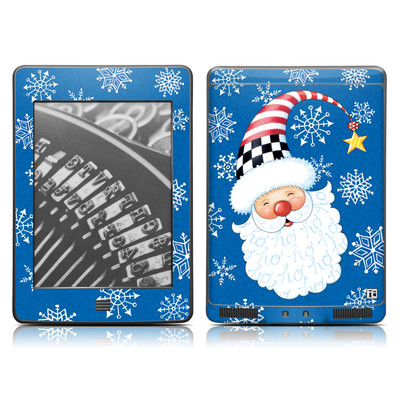 Kindle Touch Skin - Santa Snowflake