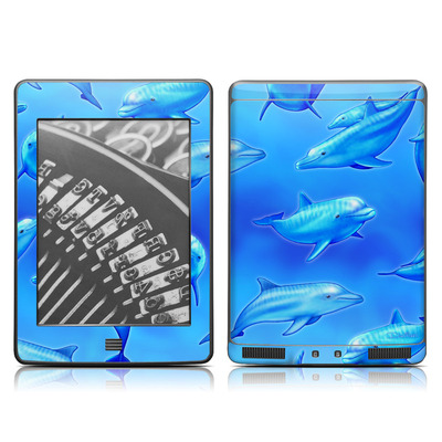 Kindle Touch Skin - Swimming Dolphins