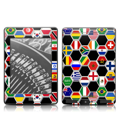 Kindle Touch Skin - Soccer Flags