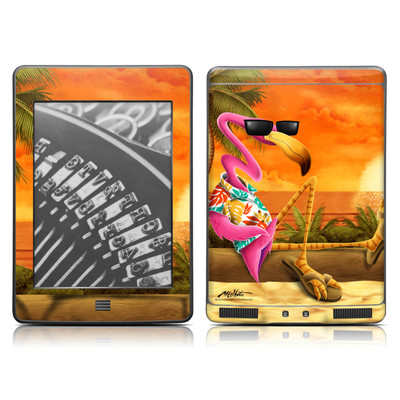 Kindle Touch Skin - Sunset Flamingo