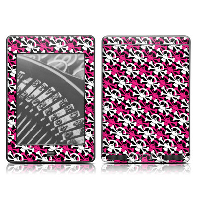 Kindle Touch Skin - Skully Pink