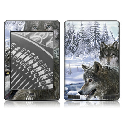 Kindle Touch Skin - Snow Wolves