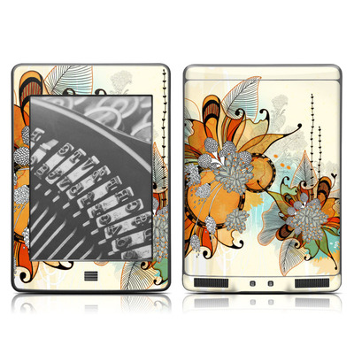 Kindle Touch Skin - Sunset Flowers