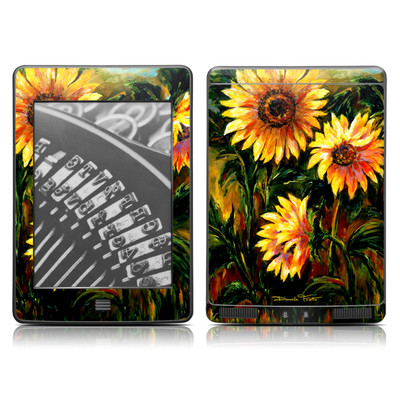 Kindle Touch Skin - Sunflower Sunshine