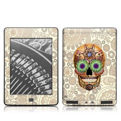 Kindle Touch Skin - Sugar Skull Bone