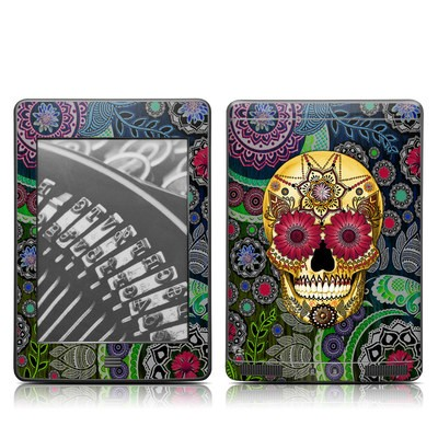 Kindle Touch Skin - Sugar Skull Paisley