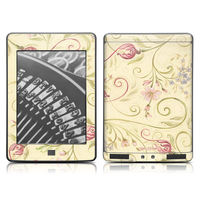 Kindle Touch Skin - Tulip Scroll