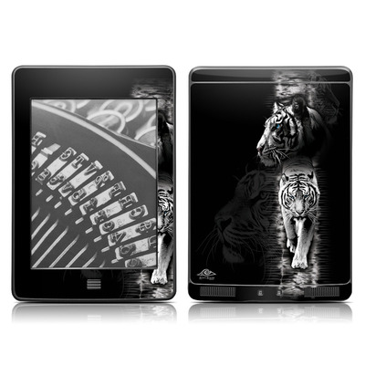 Kindle Touch Skin - White Tiger