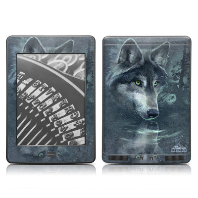 Kindle Touch Skin - Wolf Reflection