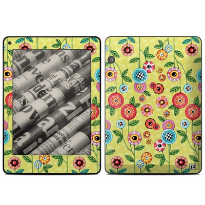 Amazon Kindle Voyage Skin - Button Flowers
