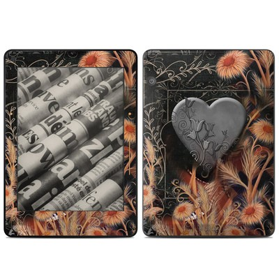 Amazon Kindle Voyage Skin - Black Lace Flower